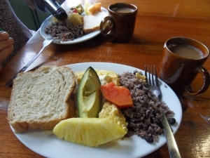 The best bread I've ever had in Costa Rica, served warm from the oven.