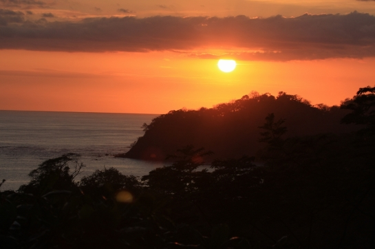 sunset photo playa smara beach costa rica