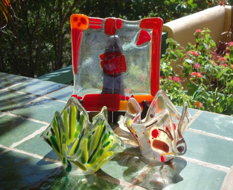 fused glass art samara costa rica