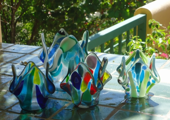 fused glass art in samara costa rica