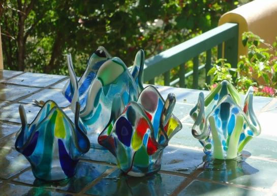 fused glass art in samara costa rica