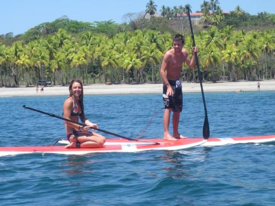 paddle boarding playa carrillo