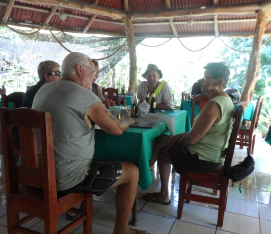 We stopped for a pleasant lunch in a typical fresh air restaurant.