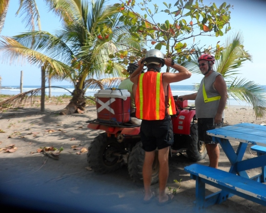 Playa Corazalito for a break.