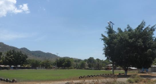 And a football field - la plaza.