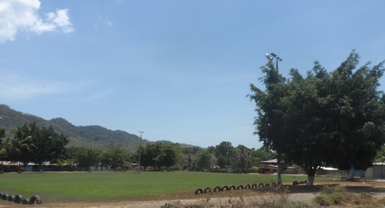 And a football field - la plaza.